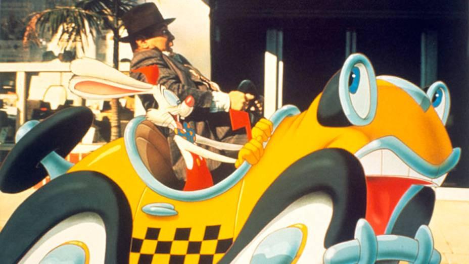 Uma Cilada Para Roger Rabbit (1988) - No filme que mistura imagens rodadas e animação, Benny é o tresloucado taxi do coelho Roger, mais um dos desenhos a irritar o rabugento detetive Eddie Valiant