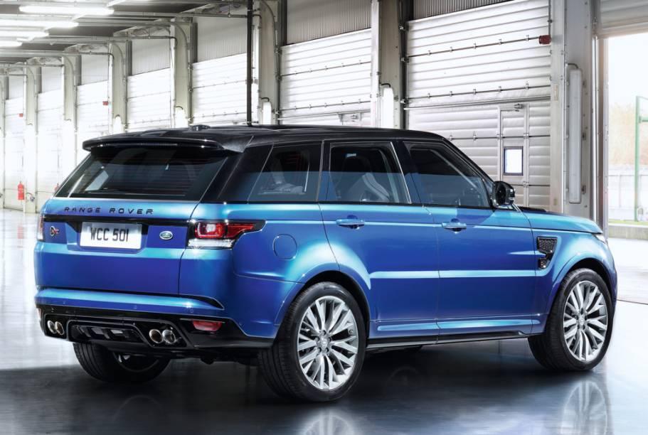<strong>Land Rover Range Rover Sport SVR –</strong>O jipão chegou equipado com o mesmo V8 5.0 de 550 cv do F-Type R, o utilitário superesportivo vai de 0 a 100 km/h em 4,7 segundos.
