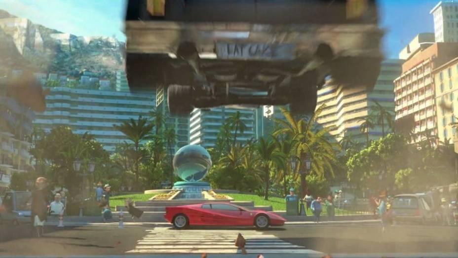 Até a animação Madagascar 3 mostra um possante em suas cenas: nada menos do que a Ferrari Testarossa.