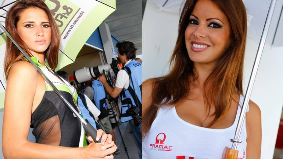"""Garotas que embelezaram a etapa espanhola da MotoGP   <a href=""""http://quatrorodas.abril.com.br/moto/noticias/quatro-vezes-marquez-781513.shtml"""" rel=""""migration"""">Leia mais</a>"""
