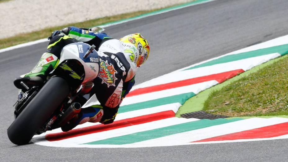 """Valentino acelera, mas não é o suficiente   <a href=""""http://quatrorodas.abril.com.br/moto/noticias/marc-marquez-mantem-regularidade-pole-mugello-784738.shtml"""" rel=""""migration"""">Leia mais</a>"""