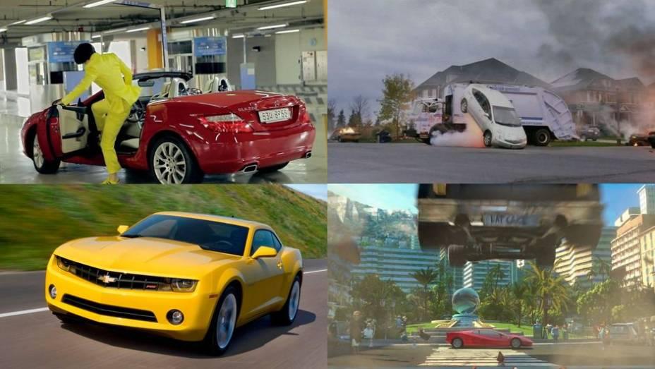 Filmes, novelas, seriados e até música. Confira alguns dos carros que estiveram em evidência em 2012.