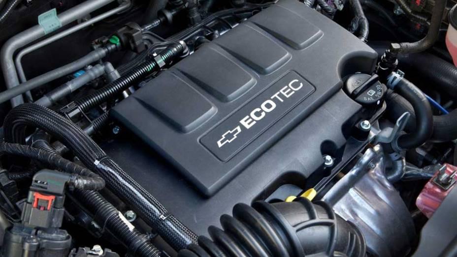 O motor 1.8 Ecotec é o mesmo escolhido para equipar o sedã Cruze