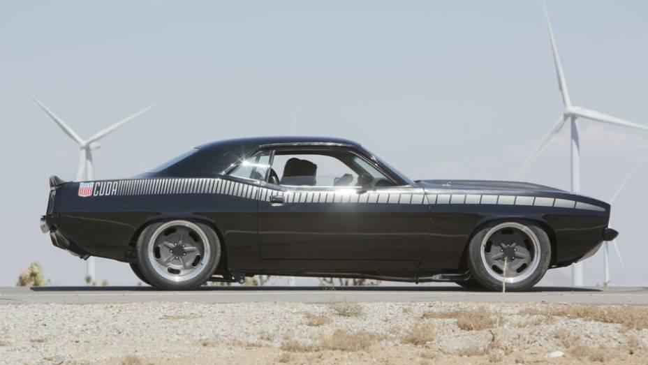 O carro recebeu um motor Chevrolet LS3 de 500 cv para participar das filmagens