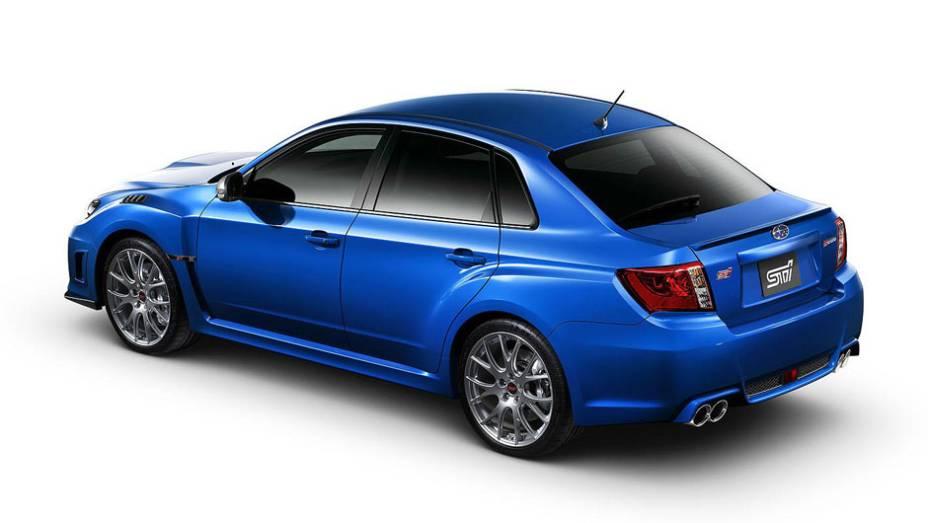 """A tradicional cor azul da Subaru cai bem no WRX STI S206   <a href=""""http://quatrorodas.abril.com.br/noticias/subaru-lanca-impreza-wrx-sti-s206-308224_p.shtml"""" rel=""""migration"""">Leia mais</a>"""