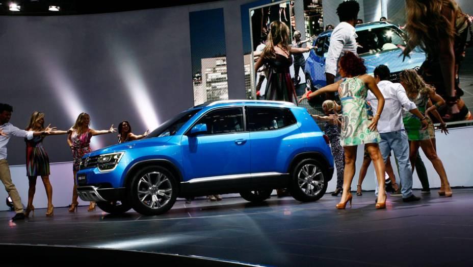 """Volkswagen Taigun é o conceito de um novo jipinho de quatro lugares<a href=""""http://quatrorodas.abril.com.br/salao-do-automovel/2012/carros/taigun-708675.shtml"""" rel=""""migration"""">Leia mais</a>"""