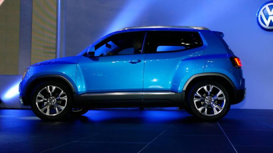 """Volkswagen diz que o Taigun tem forma atlética <a href=""""http://quatrorodas.abril.com.br/salao-do-automovel/2012/carros/taigun-708675.shtml"""" rel=""""migration"""">Leia mais</a>"""