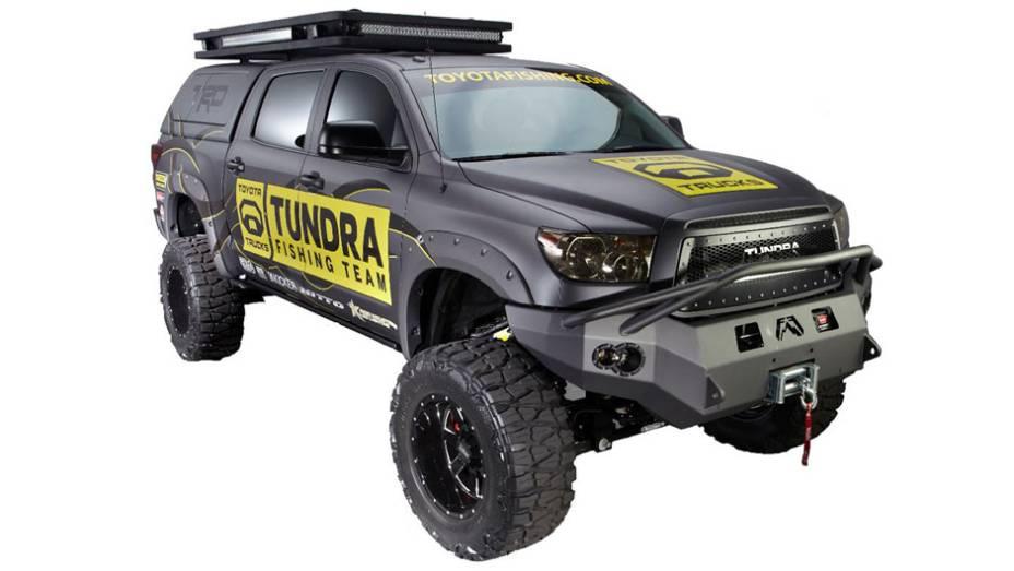 Toyota Tundra exposta no evento foi desenvolvida para pesca