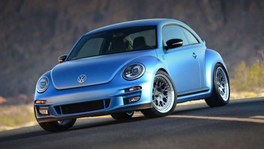 A Volkswagen participa do SEMA com diversas unidades especiais do no Fusca. Entre eles, está o APR-VWvortex Beetle Turbo, modelo com tração integral, motor de 500 cv, além de novos freios, suspensão, pintura especial...