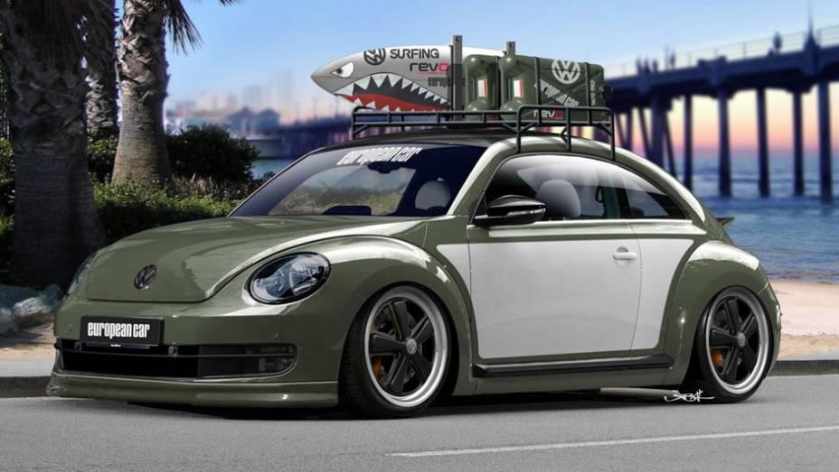 Outro modelo é chamado Beach Battle Beetle, unidade inspirada no estilo de vida de surfistas. Além do visual diferenciado, o modelo tem tração dianteira e gera cerca de 400 cv