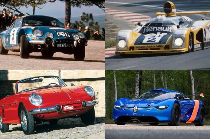 Modelos históricos da Alpine