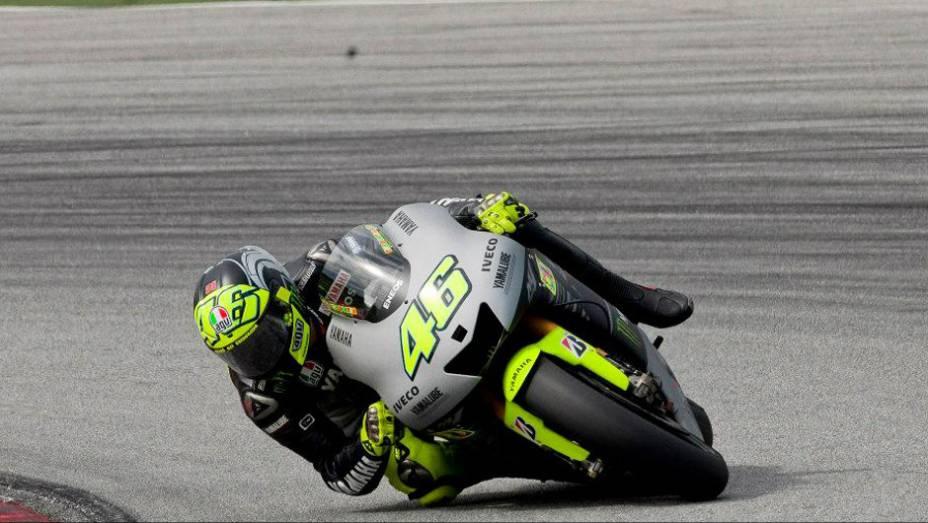 """Valentino Rossi (Yamaha Factory Racing Team) fez novamente a quinta melhor marca. <a href=""""http://quatrorodas.abril.com.br/moto/noticias/motogp-lorenzo-supera-pedrosa-sepang-734732.shtml"""" rel=""""migration"""">Leia mais</a>"""