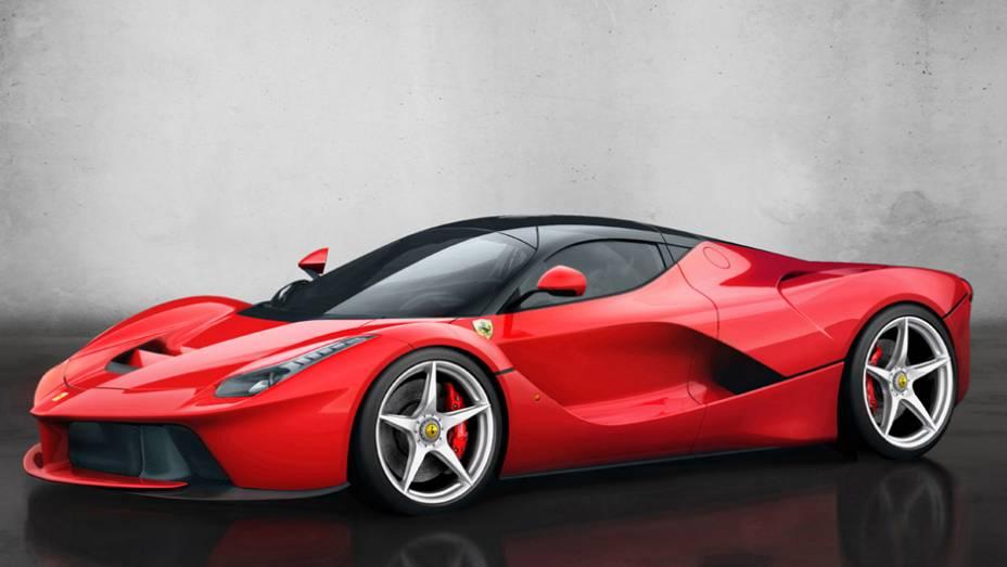"""Ferrari LaFerrari é a sucessora da Enzo   <a href=""""http://quatrorodas.abril.com.br/saloes/genebra/2013/ferrari-revela-laferrari-735265.shtml"""" rel=""""migration"""">Leia mais</a>"""