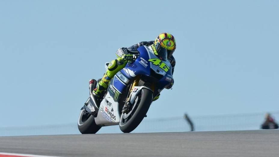 """O """"doutor"""" Valentino Rossi terminou em quinto   <a href=""""http://quatrorodas.abril.com.br/moto/noticias/motogp-marquez-domina-treinos-eua-739126.shtml"""" rel=""""migration"""">Leia mais</a>"""