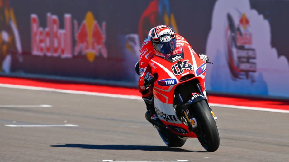 """Andrea Dovizioso (Ducati Team) ficou com o sexto tempo   <a href=""""http://quatrorodas.abril.com.br/moto/noticias/marquez-faz-1a-pole-carreira-austin-739216.shtml"""" rel=""""migration"""">Leia mais</a>"""