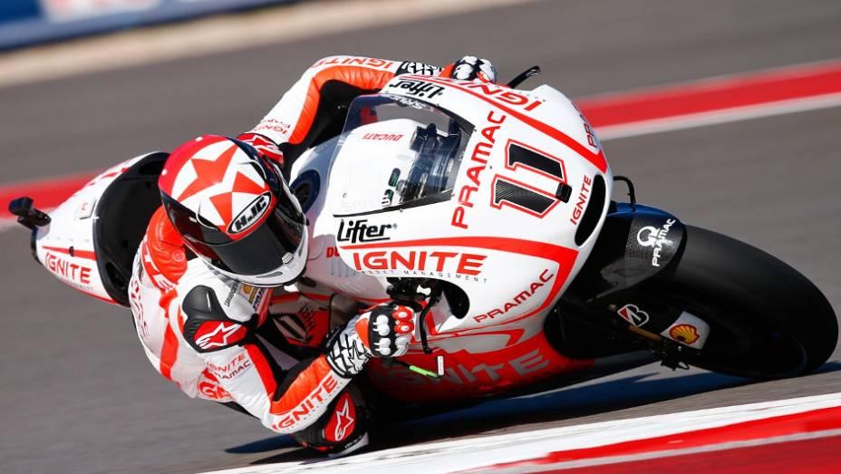 """O norte-americano Ben Spies (Ignite Pramac Racing) largará em 12º lugar   <a href=""""http://quatrorodas.abril.com.br/moto/noticias/marquez-faz-1a-pole-carreira-austin-739216.shtml"""" rel=""""migration"""">Leia mais</a>"""