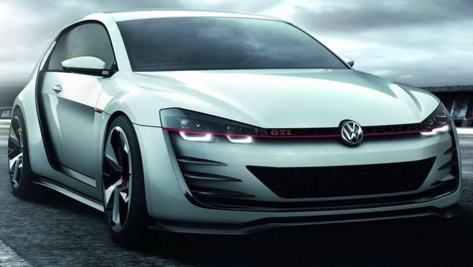 """A VW revelou o Golf Design Vision GTI concept no Worthersee   <a href=""""http://quatrorodas.abril.com.br/noticias/fabricantes/vw-prepara-golf-design-vision-gti-concept-740746.shtml"""" rel=""""migration"""">Leia mais</a>"""