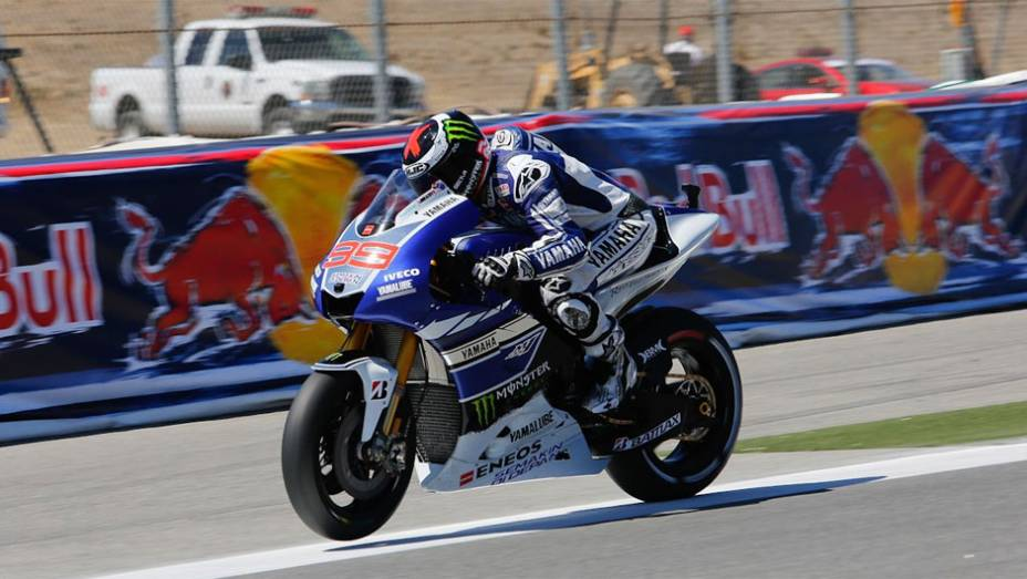 """Se recuperando de lesão, Jorge Lorenzo (Yamaha Factory Racing) ficou em sexto neste sábado   <a href=""""%20http://quatrorodas.abril.com.br/moto/noticias/motogp-bradl-surpreende-pole-eua-747594.shtml"""" rel=""""migration"""">Leia mais</a>"""