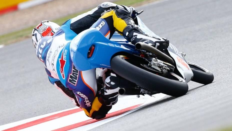 """Por fim, Maverick Viñales (Team Calvo) liderou o pelotão da Moto3   <a href=""""http://quatrorodas.abril.com.br/moto/noticias/motogp-lorenzo-lidera-sexta-feira-751904.shtml"""" rel=""""migration"""">Leia mais</a>"""