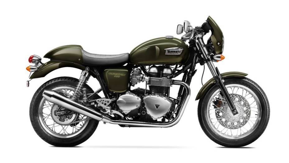"""Motocicleta é inspirada nos anos 1960   <a href=""""http://quatrorodas.abril.com.br/moto/noticias/triumph-revela-lancamentos-salao-duas-rodas-756393.shtml"""" rel=""""migration"""">Leia mais</a>"""
