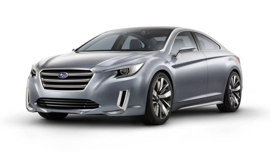 """A Subaru divulgou as primeiras imagens e informações oficiais do Legacy concept 2015   <a href=""""http://quatrorodas.abril.com.br/noticias/fabricantes/subaru-revela-legacy-concept-2015-760224.shtml"""" rel=""""migration"""">Leia Mais</a>"""