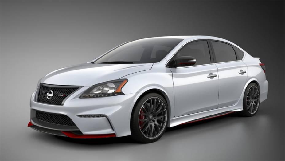 """Nissan Sentra Nismo Concept é mostrado no Salão de Los Angeles   <a href=""""http://quatrorodas.abril.com.br/noticias/saloes/los-angeles-2013/nissan-sentra-nismo-mostrado-los-angeles-760822.shtml"""" rel=""""migration"""">Leia mais</a>"""