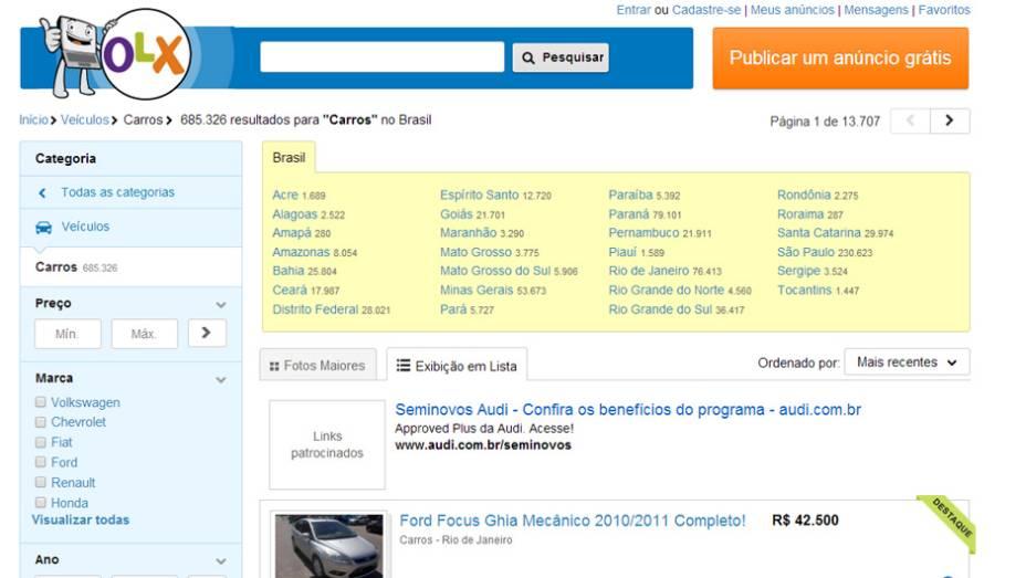 """7 - OLX Carros   <a href=""""http://quatrorodas.abril.com.br/noticias/mercado/hb20-termo-mais-buscado-brasil-2013-763387.shtml"""" rel=""""migration"""">Leia mais</a>"""
