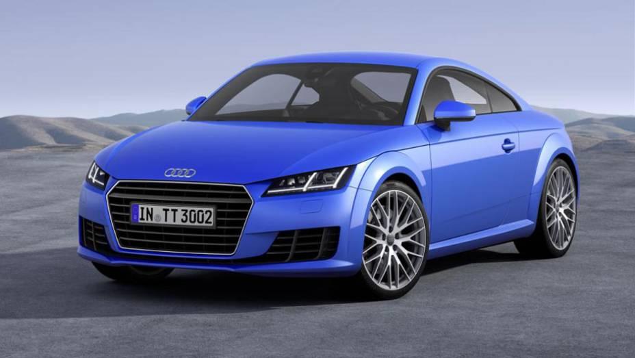 """A Audi desfez o suspense e finalmente revelou nesta segunda-feira (3) a nova geração do esportivo TT   <a href=""""http://quatrorodas.abril.com.br/noticias/saloes/genebra-2014/audi-apresenta-novo-tt-775222.shtml"""" rel=""""migration"""">Leia mais</a>"""