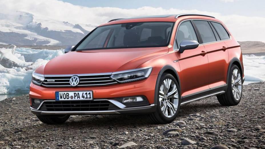 "Eis a nova perua aventureira da Volkswagen: Passat Alltrack | <a href=""http://quatrorodas.abril.com.br/noticias/saloes/genebra-2015/volkswagen-exibe-passat-alltrack-837900.shtml"" rel=""migration"">Leia mais</a>"