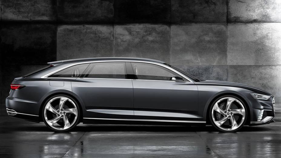 """A Audi confirma que o conceitual é uma nova interpretação para seus modelos Avant   <a href=""""http://quatrorodas.abril.com.br/noticias/saloes/genebra-2015/audi-mostra-prologue-avant-concept-antes-genebra-840845.shtml"""" rel=""""migration"""">Leia mais</a>"""
