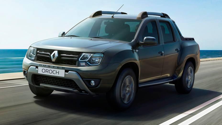 """A nova picape média da Renault, como seu nome sugere, é baseada no utilitário Duster   <a href=""""http://quatrorodas.abril.com.br/noticias/saloes/buenos-aires-2015/renault-exibe-duster-picape-sandero-r-s-877281.shtml"""" rel=""""migration"""">Leia mais</a>"""
