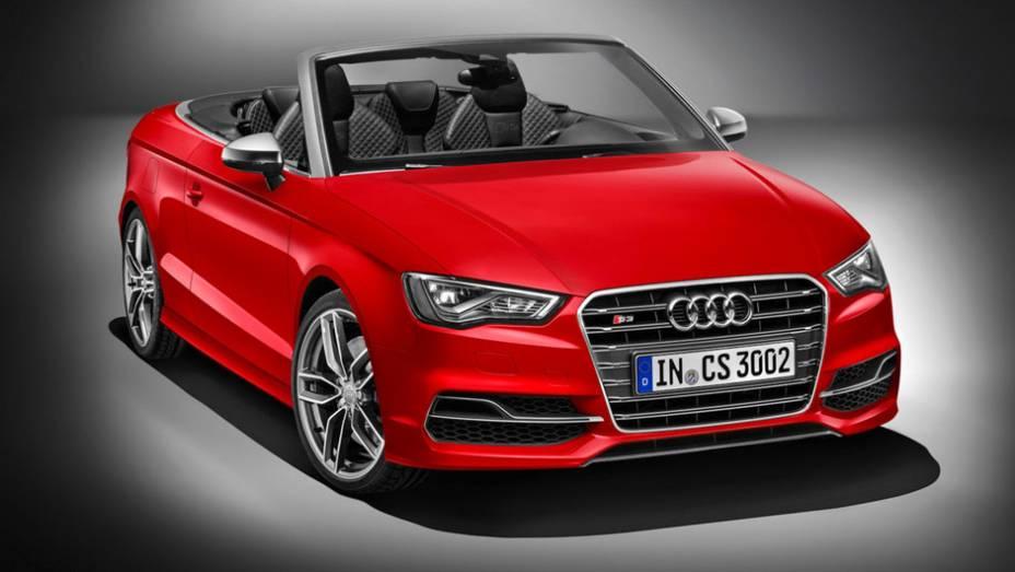 """Na Alemanha, o S3 Cabriolet será vendido por 48.500 euros;ainda não previsão de quando (e se) o carro virá ao Brasil   <a href=""""http://quatrorodas.abril.com.br/noticias/saloes/genebra-2014/audi-revela-novo-s3-cabriolet-773912.shtml"""" rel=""""migration"""">Leia mais</a>"""