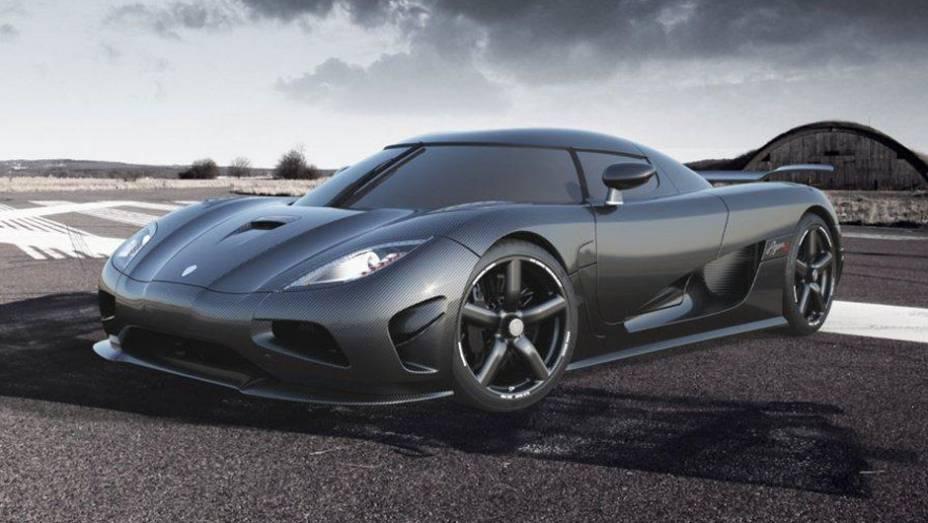 """Modelo possui velocidade máxima de 440 km/h   <a href=""""http://quatrorodas.abril.com.br/saloes/genebra/2012/koenigsegg-agera-r-678731.shtml"""" rel=""""migration"""">Leia mais</a>"""