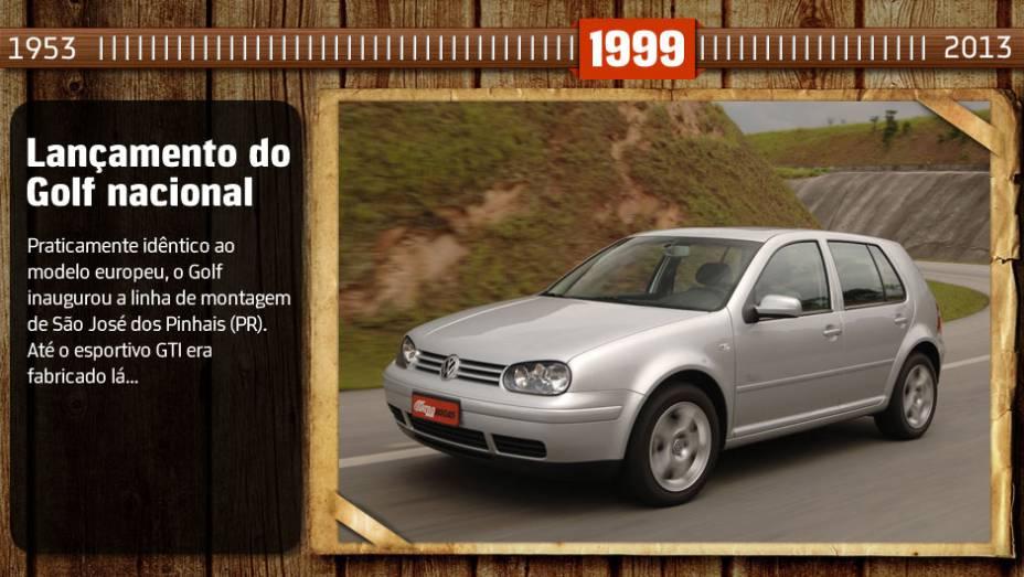 Você sabia? Na época, o Golf GTI era o segundo carro mais veloz produzido no país. Só perdia justamente para outro modelo feito na mesma fábrica, o Audi A3