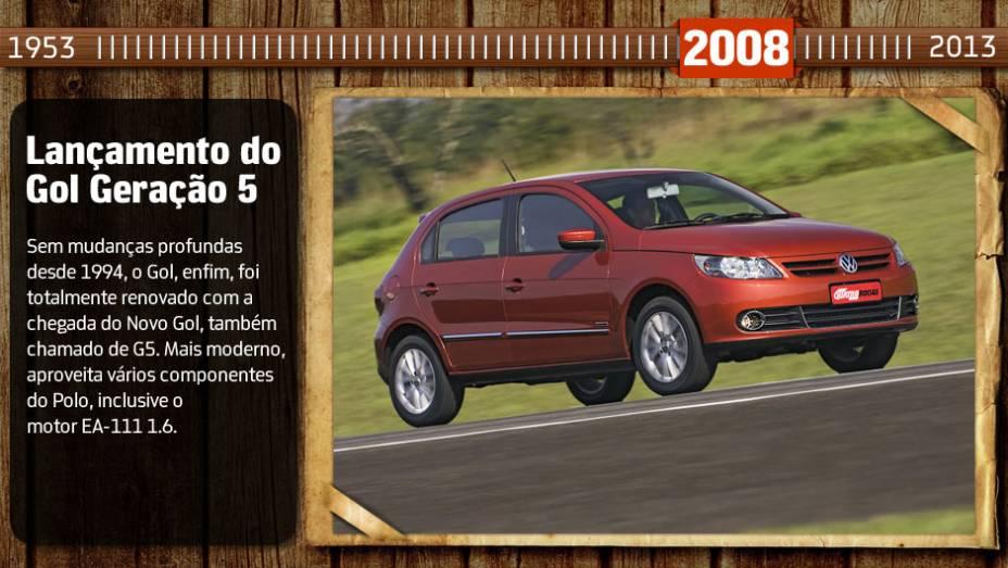 Você sabia? Inspirado no Tiguan, o Gol inaugurou a nova identidade visual da marca entre os carros brasileiros. Pena que ela não durou muito, já que a reestilização do Fox (em 2009) trouxe um visual em sintonia com os modelos alemães