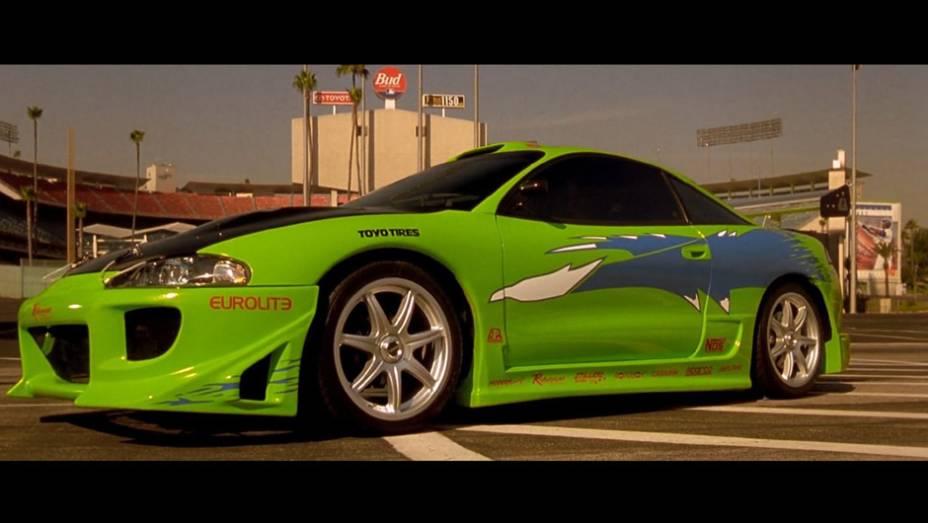 Mitsubishi Eclipse: este foi o carro escolhido por Brian OConnor (Paul Walker), policial infiltrado no universo dos rachas para prender uma gangue de corredores de rua