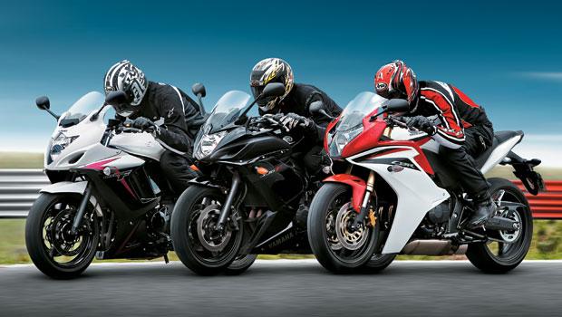 Honda CBR 600F x Suzuki GSX 650F x Yamaha XJ6 F