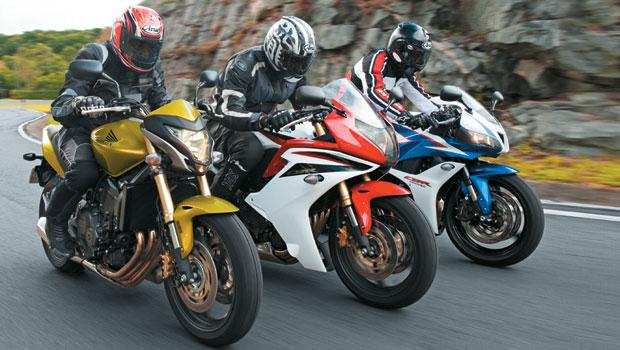 Honda: CBR 600RR x CBR 600F x CB 600F Hornet