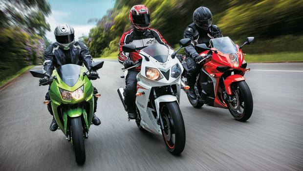 Kawasaki Ninja 250R x Dafra Roadwin 250 x Kasinski