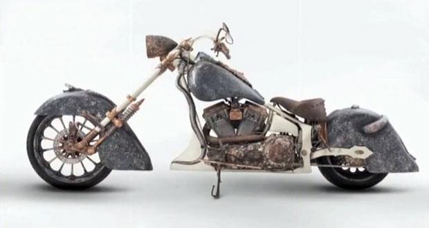 Motocicleta tem quadro feito de ouro