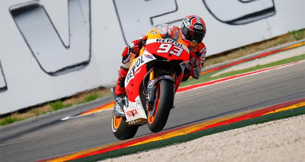 MotoGP: Márquez lidera sexta-feira em Aragón