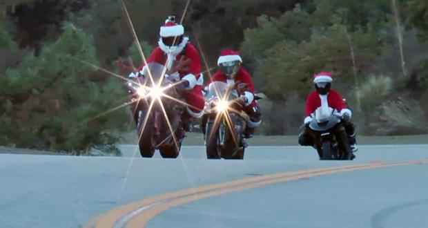Você já viu Papai Noel motociclista?
