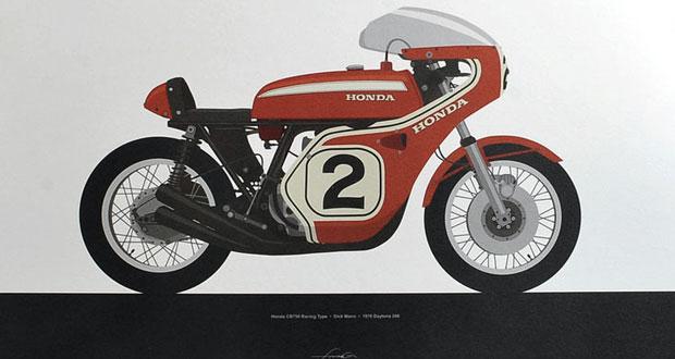 Projeto retrata motos de competição icônicas