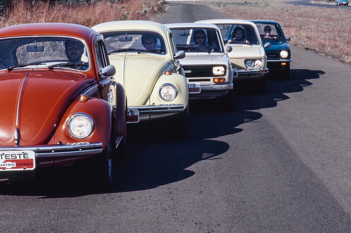 Comparativo: Fusca x Fiat 147 x Brasília x Chevette