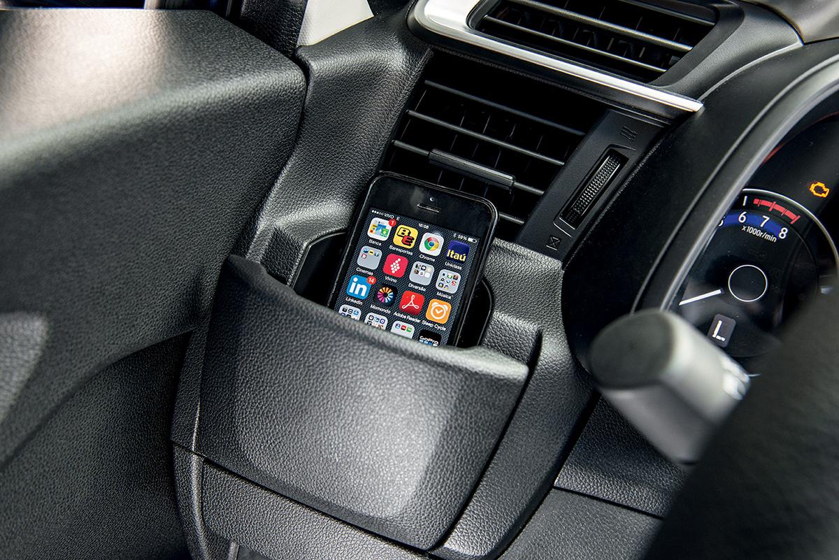 Honda Fit - porta-copos
