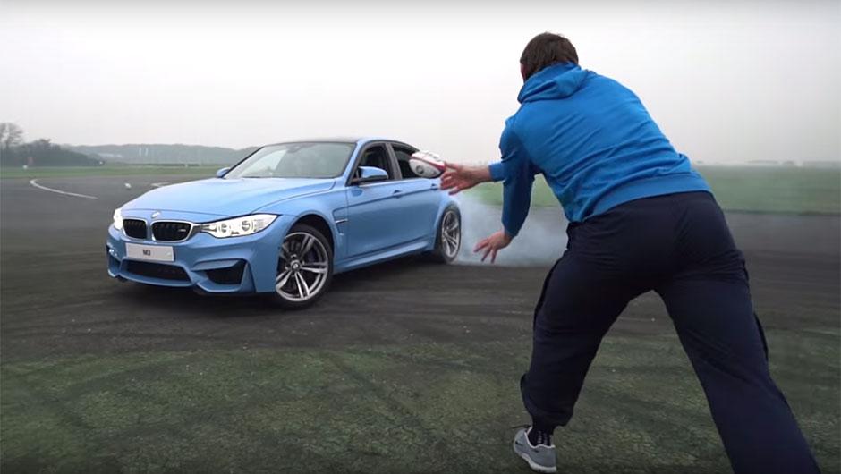 BMW M3 x Jogadores de Rúgbi