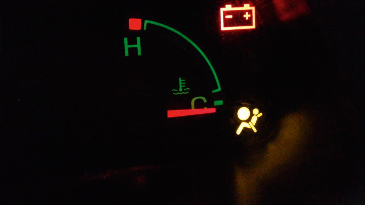 Luz do airbag