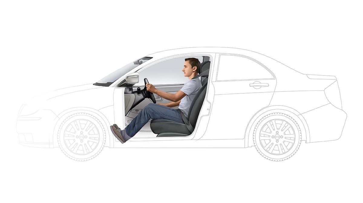 Posição de dirigir