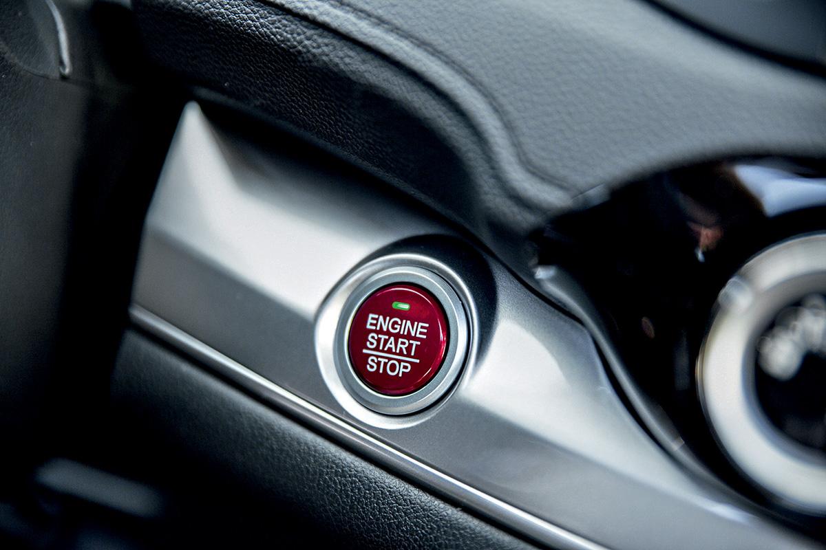 Botão de partida do Honda CR-V modelo 2015