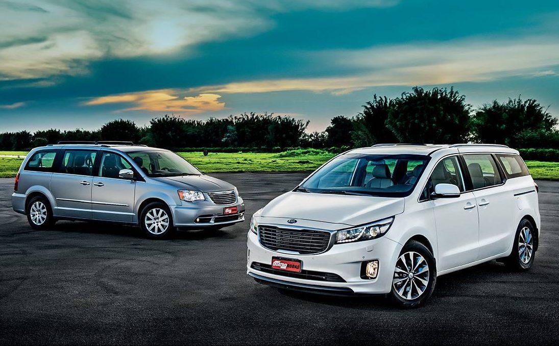 Minivans: mesmo conceito, mas estilos bem diferentes